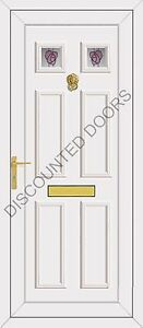 Wilson Two Rennie Glazed UPVC Front Door, Frame & Letterbox