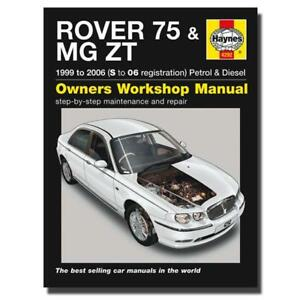 haynes manual rover 75 mg zt petrol diesel s 06 workshop manuals rh ebay co uk rover 75 workshop manual free rover 75 service manual