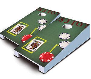 RED SWIRL DESIGN TABLETOP Desktop Cornhole Boards Game Set Mini Miniature