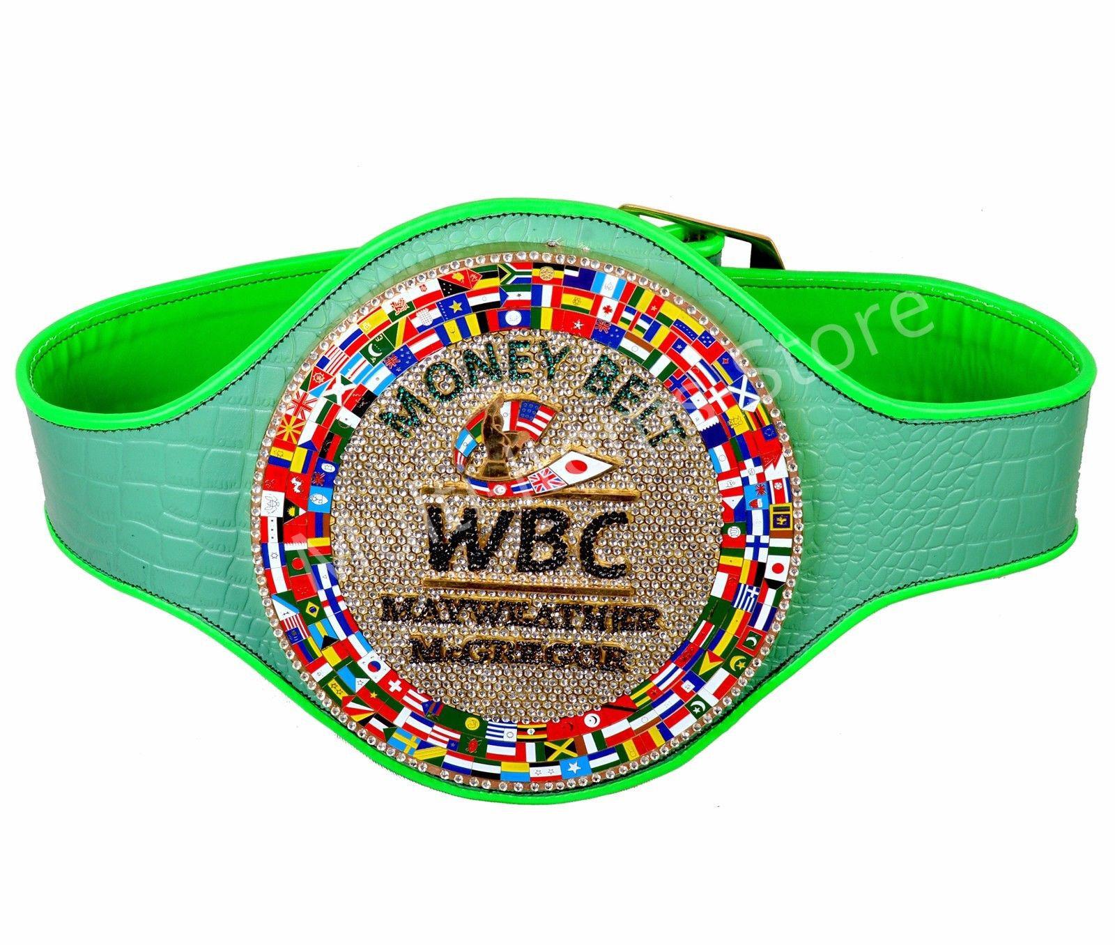 Beautiful WBC MONEY BELT MAYWEATHER MCGREGOR Fight Replica Belt With Extra Pearl