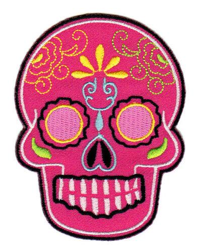 bb08 Mexican Sugar Skull Tattoo Rockabilly Aufnäher Bügelbild Totenkopf Patches
