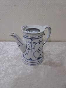 Antiguo Porcelana Jarra de Café Flores de Paja Vintage - Königszelt Silesia??