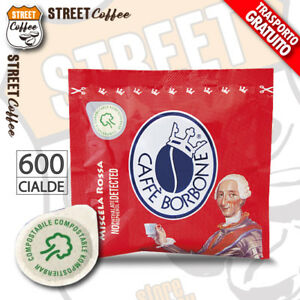 600 Cialde Caffè Borbone ESE 44 mm Miscela Rossa Red Rosso Filtrocarta gratis
