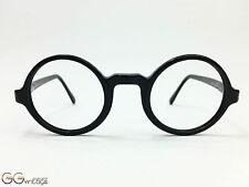Armani Emporio 553 black round Eyeglasses Brille Frame 90's Vintage unworn NOS