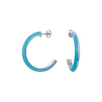 Esprit Damen Ohrringe Creole Edelstahl silber Marin 68 blau ESER11113E000   eBay