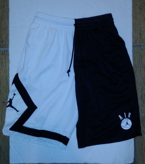 Nike Air Jordan Retro 1 DNA Fearless Basketball Shorts Black & White 2xl XXL