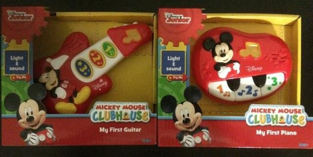 Disney Mickey Mouse My First Guitar /& My First Piano Electronic Lights /& Sounds