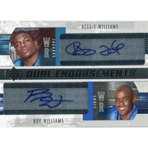 Reggie Williams And Roy Williams Autographed 2004 Upper Deck Card