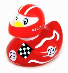 PORSCHE-Bagno-Papera-Anatra-Car-Racer-Duck-Le-Mans-VICTORY-n-23-ROSSO-BIANCO