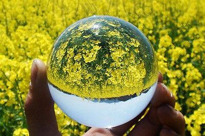40mm+Stand Asian Rare Natural Quartz Clear Magic Crystal Healing Ball Sphere