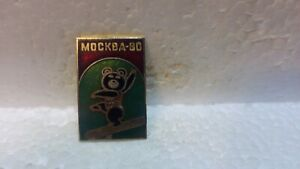 Official-1980-Summer-Olympic-Games-Bear-Doing-Gymnastics-Collectible-Pin-pin3701