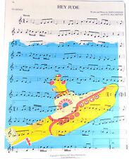 Art N Wordz The Beatles Yellow Sub Original Music Sheet Pop Art Wall/Desk Poster