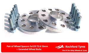 Wheel Spacers 15mm (2) 5x120 72.6 +Bolts For BMW Z4 [E85 / E86] 03-09