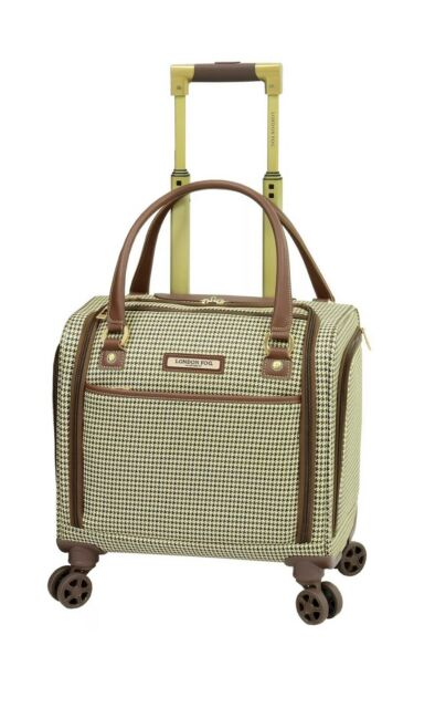 London Fog Oxford Ii 8 Wheel Spinner Under Seat Carry On Suitcase Plaid For Sale Online Ebay
