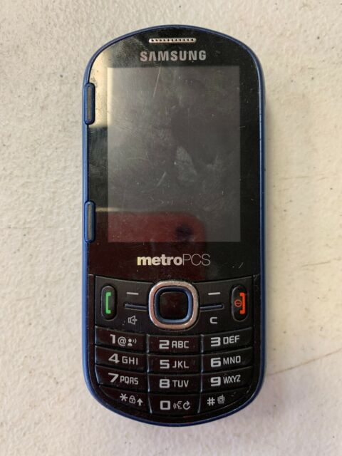 Samsung Messager Iii Sch R570 Blue Metropcs Cellular Phone For Sale Online Ebay