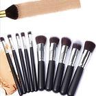 10PC Jessup Makeup Brush Set Cosmetic Foundation blending pencil brushes Kabuki
