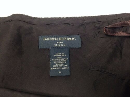 Size Republic A Stretch Skirt Brown 6 Herringbone Line Women's Banana RwWtdqz11