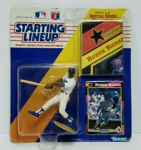 RUBEN SIERRA - Texas Rangers Starting Lineup SLU MLB 1992 Figure Poster Card NEW