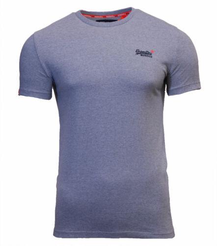 Superdry Mens New Orange Label Vintage Embroidered T Shirt Pastel Pink Blue Mint