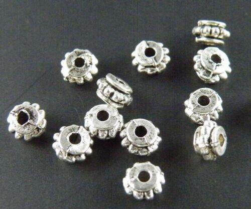 600pcs Tibetan Silver Little Bail Spacer Beads Craft DIY 5.5x3mm 923