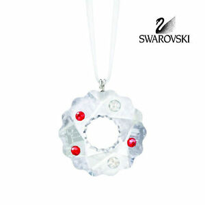 SWAROVSKI CRYSTAL CHRISTMAS ORNAMENT WREATH COOKIE ORNAMENT 5103224 MIB RETIRED