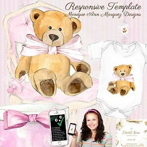 Baby Boutique Reborn Doll Auction Listing Template Mobile Responsive 516 E Ebay