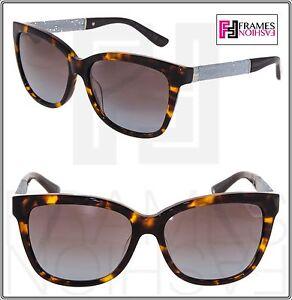 67c9c18fc87 JIMMY CHOO CORA Brown Havana Glitter Square Sunglasses CORA S Square ...