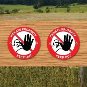 Details about Footpath Arrow Signs, KEEP OUT signs, PRIVATE PROPERTY Signs  WAY MARKER 2 PK