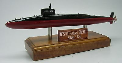 USS Nathanael Greene SSBN-636 Submarine Desk Wood Model Small New