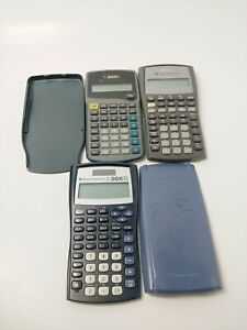 Texas-Instruments-calculators-lot-of-Ti-30X-and-BAII-plus-all-tested