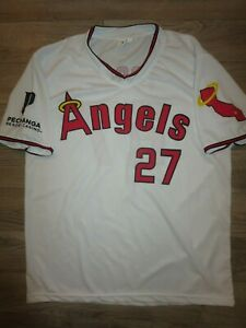 online retailer 2cba2 7e163 Details about Mike Trout #27 Anaheim LA Angels MLB Baseball Jersey XL mens