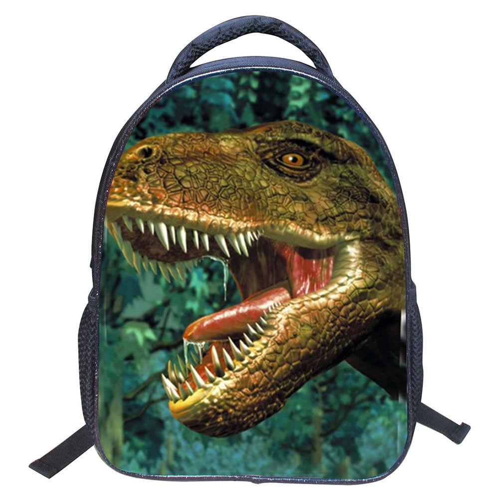 Kids Boys Girls 3D Print Dinosaur School Backpack Bag Should