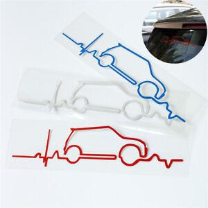 3x-Mini-Auto-Skizze-Aufkleber-Reflektierend-Karosserie-Fenster-Sticker-20x4-5cm