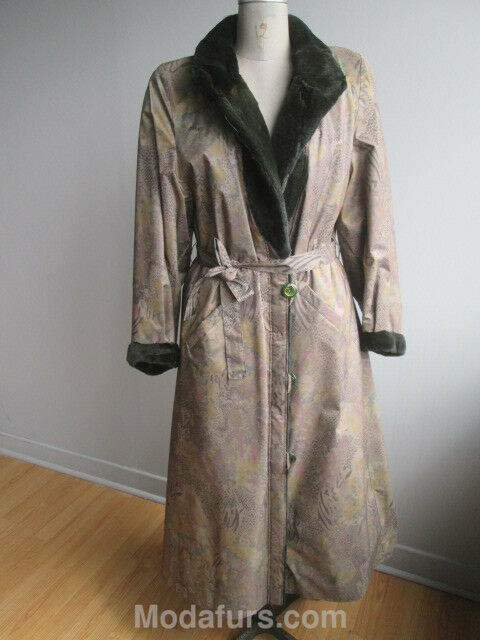 Women's Sz  10 New Reversible Raincoat Real  Mink Fur Coat SALE