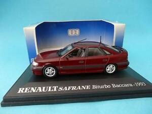 RENAULT-SAFRANE-BITURBO-RED-METALLIC-UH5091-UNIVERSAL-HOBBIES-UH-1-43-NEW