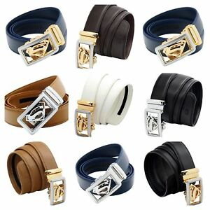QHA-Mens-Designer-Superhero-Style-Automatic-Ratchet-Leather-Belt-Auto-Buckle