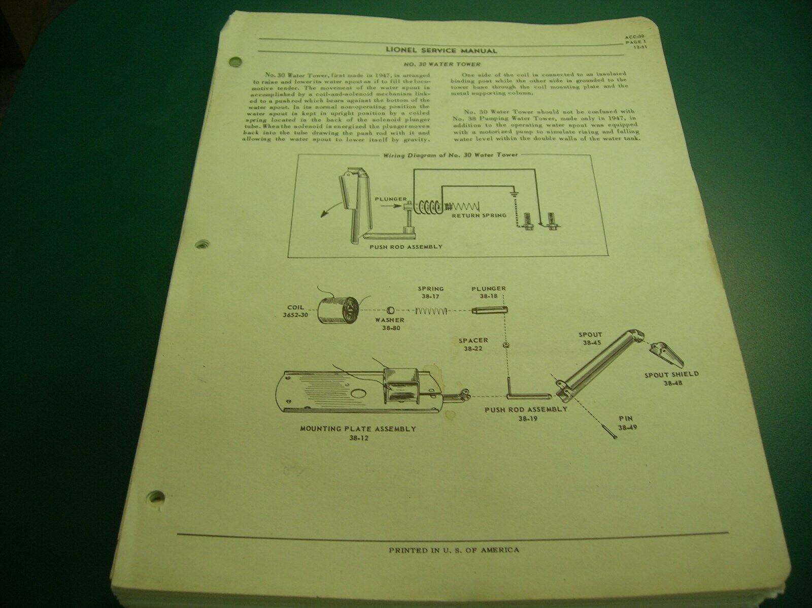 LIONEL ACCESSORY SERVICE uomoUAL PAGES (LAST PAGE PAGE PAGE TORN) - rendere OFFERS     7c6be4