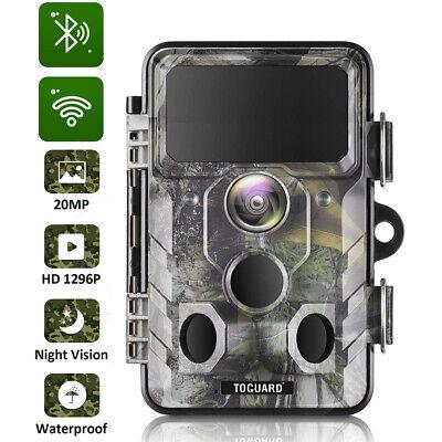 Wildkamera Jagdkamera HD 16MP Überwachungskamera Fotofalle 1080P IP65 IR 0.3S