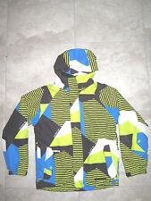 686 Brand Yellow Blue Ski Snow Hooded Jacket Coat USED Youth Large Boys Girls