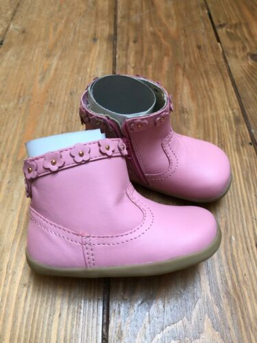 Bobux step up baby girl leather boots shoes pink EU 19// UK inf 3 new