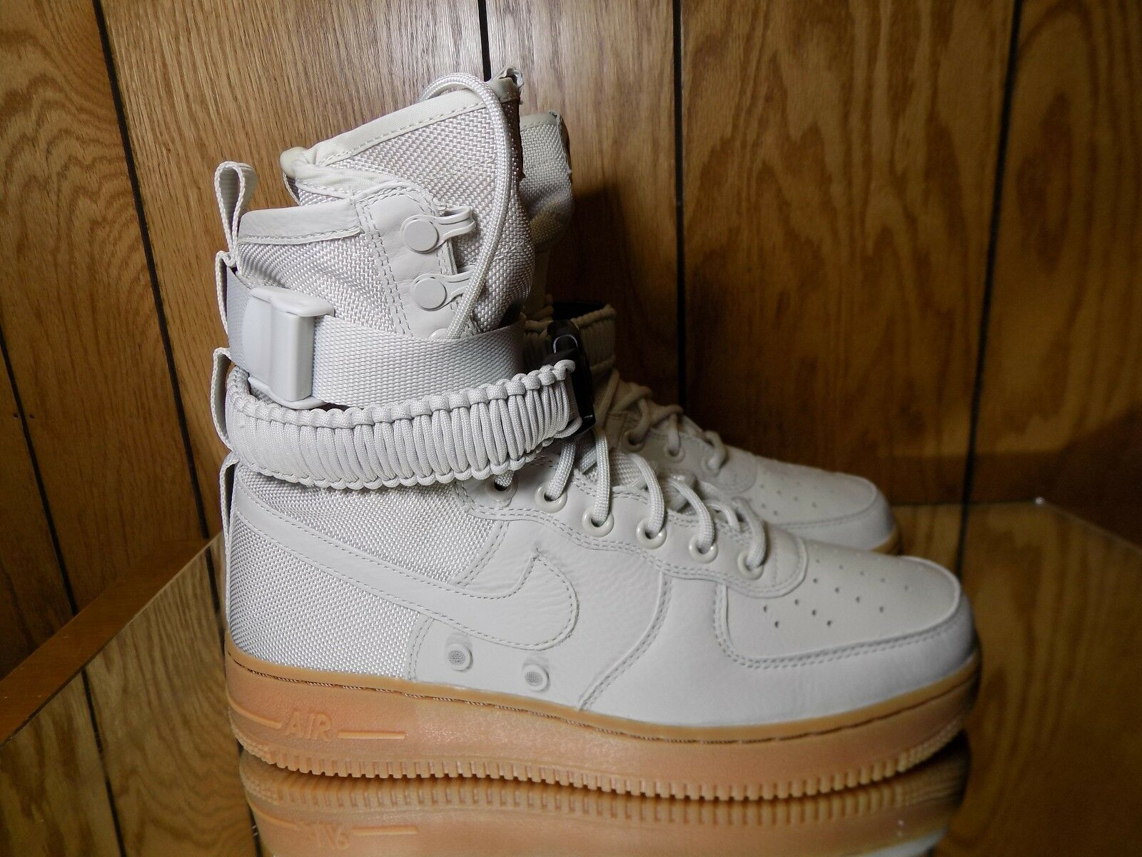 857872-004 Nike Women SF Air Force 1 Gry Lght Bone Gum s. 7