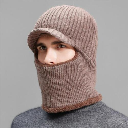 Winter Men Warm Comfortable Cold-proof Knitted Hat With Scarf Set AE4997