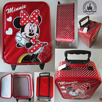Authentic Disney Parks Minnie Mouse Soft Small Rolling Kid Suitcase Luggage