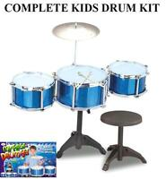 Childs Kids Toy Drum Kit Set,symbals,stool.play Drums.musical Instrument