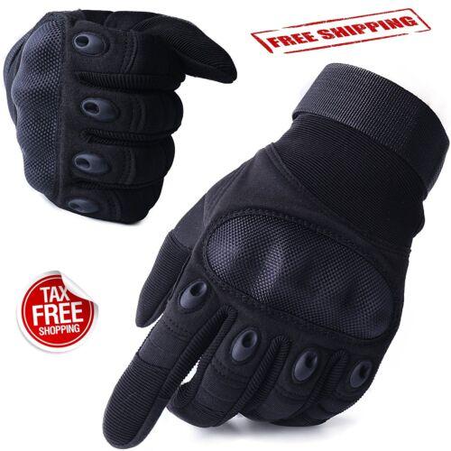 Hard Knuckle Military Tactical Gloves Adjustable Black Men Motorcycle Motorbike