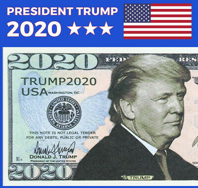 Lot of 100 Donald Trump 2020 For President Re-Election Campaign Dollar Bills