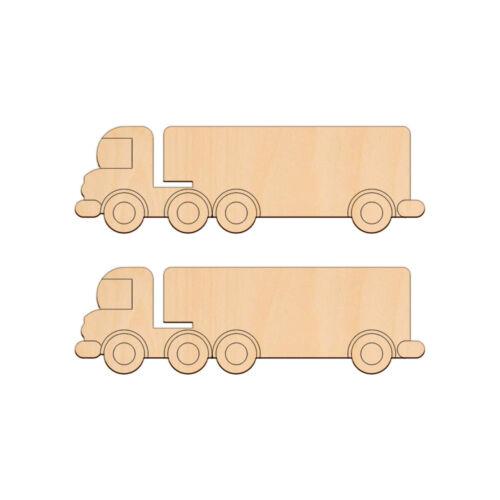 LORRY Shape Craft Blank 19.7x6cm BIRCH Wood Decoration Vehicle Embellishments