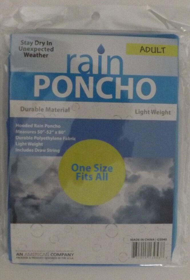 10 ADULT RAIN PONCHOS W  HOOD blueE WATERPROOF 52  X 80  LOT   SEE MY OTHER ITEMS