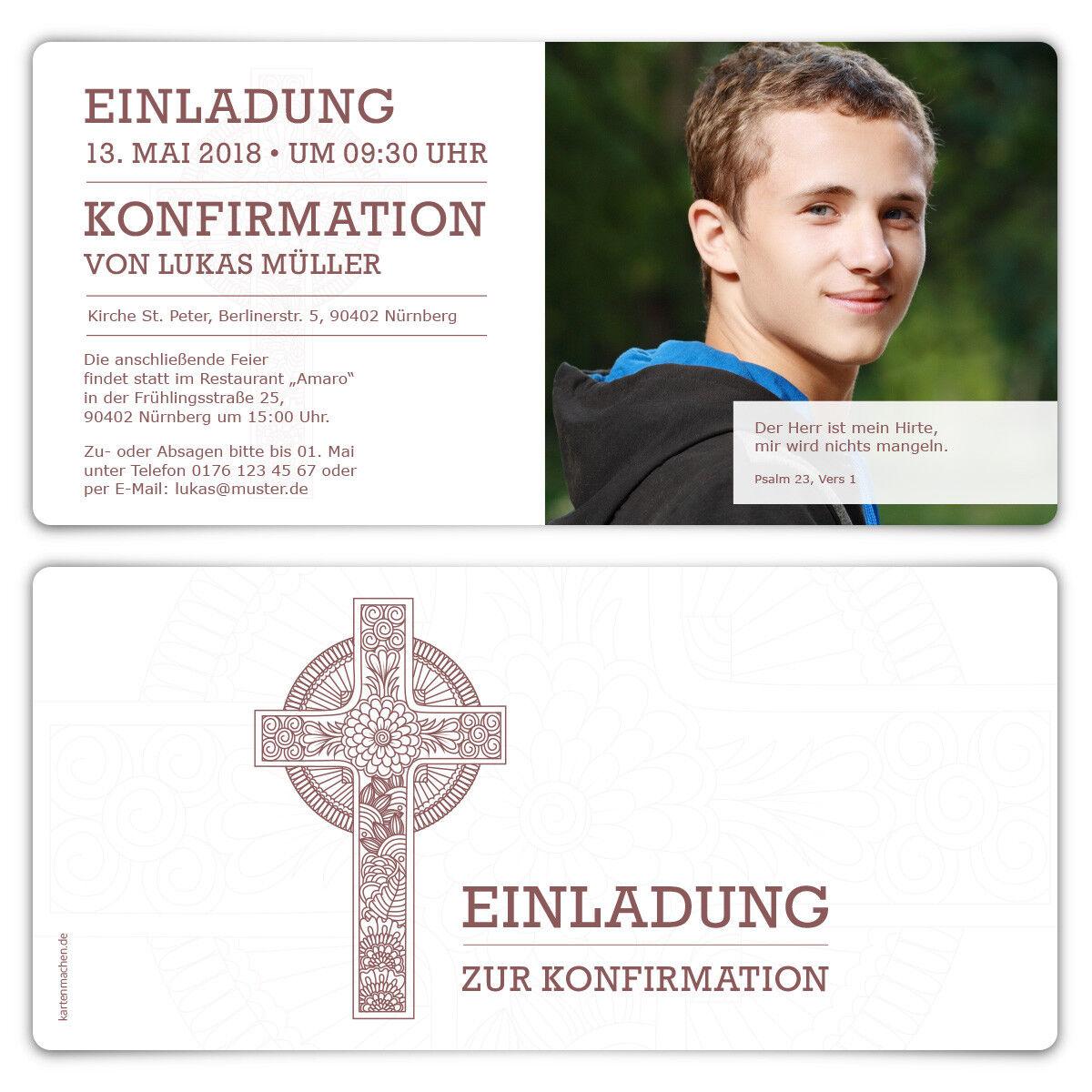 Konfirmation Einladungskarten Konfirmationskarten Konfirmationskarten Konfirmationskarten Einladungen - Keltisches Kreuz   | Erste Gruppe von Kunden  | Auktion  f6de12