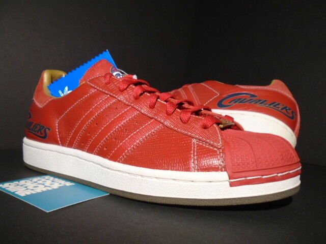 2006 ADIDAS SUPERSTAR 1 NBA CLEVELAND CLEVELAND NBA CAVALIERS CAVS LEBRON RED WHITE 014139 9 379a4f